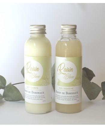 Duo gel et lait corps artisanal Raisin Blanc - 75 ml