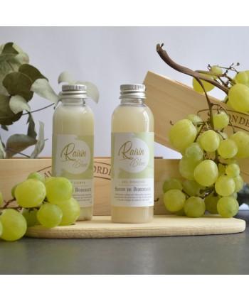 Duo Gel Douche et Lait corps artisanal Raisin  Blanc 75 ml