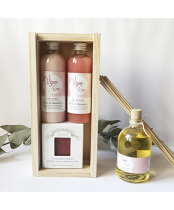 Coffret bien-être Vigne Rouge et parfum d'ambiance 100 ml